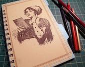 She's a thinker...Handmade Reclaimed Notebook/Journal/Sketchbook - Blank