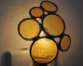 Bubble Stained Glass Nightlight, Yellow Circles