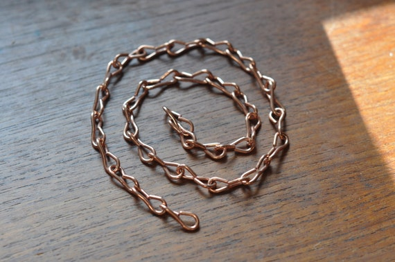 Copper chain - 16 gauge thick links - ideal for hanging medium to large terrariums - terrarium chain