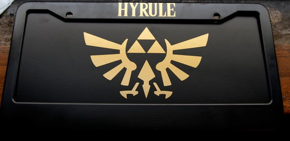Legend of zelda hyrule license plate