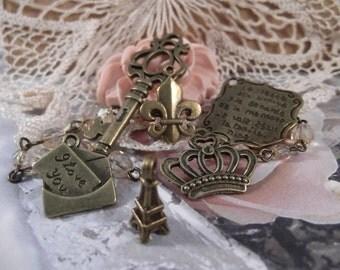 Antique Bronze French Set 3  ---  6 Pieces  ---   SET 92