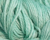 Hand Dyed Alpaca Yarn in Spearmint - Finger Wt - 250 yds
