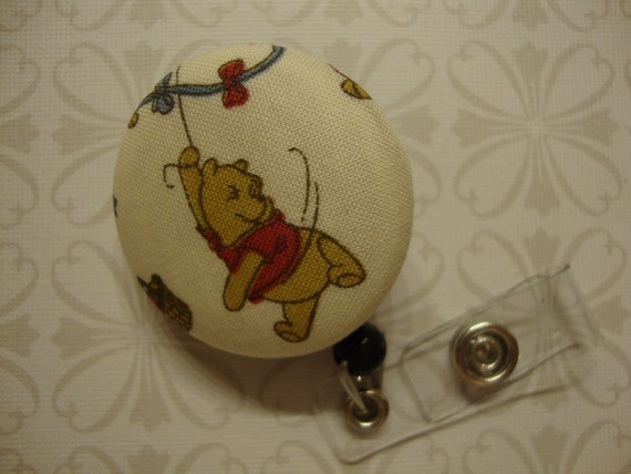 Classic Pooh Retractable Badge Holder (E19)