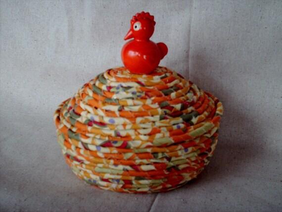Orange chicken covered basket