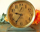 Westclox Big Ben 1927 Green Crackle Alarm Clock - Big Ben De Luxe - Rare