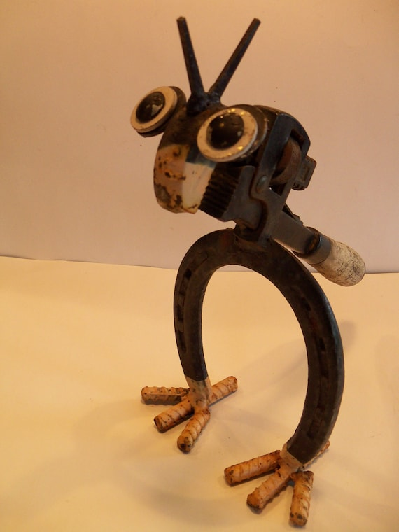 Upcycled Horseshoe And Pipe Wrench Metal By