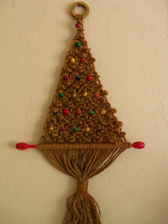 Christmas Tree Macrame 70 S Holiday Decor Christmas