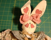 Mother Bunny with Carrots Doll