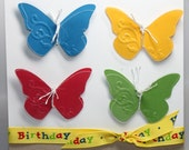 Happy Birthday Butterfly Stampin Up Handmade Card Primary Unisex