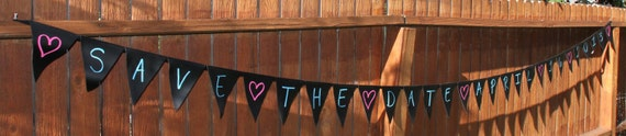 Chalk Cloth ReUsable Banner Bunting over 12 feet long for any occasion