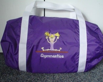 Personalized Gymnastics Duffel Bag  -  Gymnastics, tumbling, dance tote bag  Add Your Name