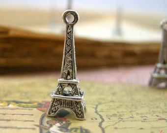 8 Pcs Eiffel Tower Charms Antique Silver Paris Charm Small Charm French Vintage Style Pendant Charm Jewelry Supplies (BB163)