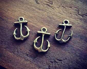Anchor Charms Antique Bronze Anchor Charm Nautical Charm Sailor Charm Pirate Vintage Style Pendant Charm Jewelry Supplies  (BA111)