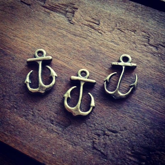 Anchor Charms Antique Bronze Anchor Charm Nautical Charm Sailor Charm Pirate Vintage Style Pendant Charm Jewelry Supplies  (BA111)