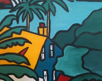 Sydney Harbour  Painting View original acrylic painting