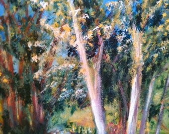 "Landscape painting Acrylic small 30x40cm 12x16"""