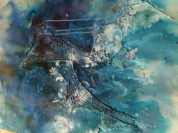Large Abstract Painting in Mixed Media Original