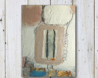 """Small Original Painting - Abstract - Mixed Media - Size 6"""" x 8"""" (15cm x 20cm)"""