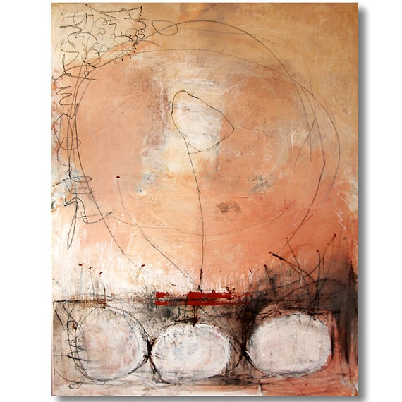 """Original Painting -  Large Abstract - Mixed Media - Size: 35.4"""" x 47.2"""" (90cm x 120cm)"""