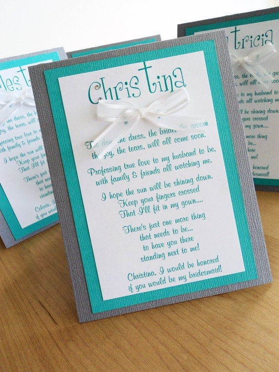 RESERVED LISTING for PacificMiles- bridesmaid cards