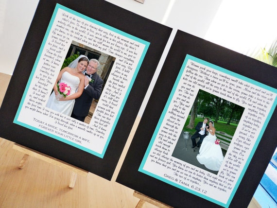 Wedding Gift for Parents, Bridal Shower Gift, Photo Mat, Custom, Personalized
