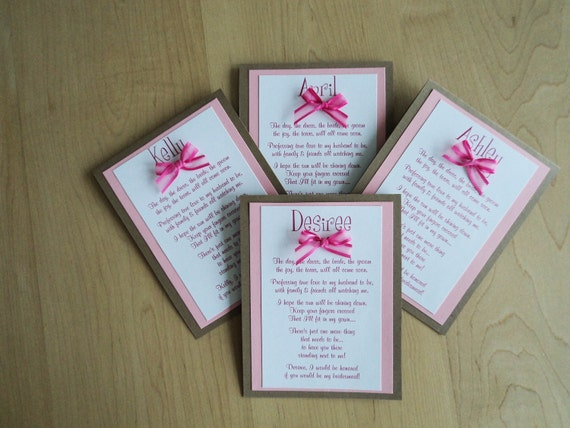 Bridesmaid Card, Will You Be My Bridesmaid, Maid of Honor, Custom made and personalized