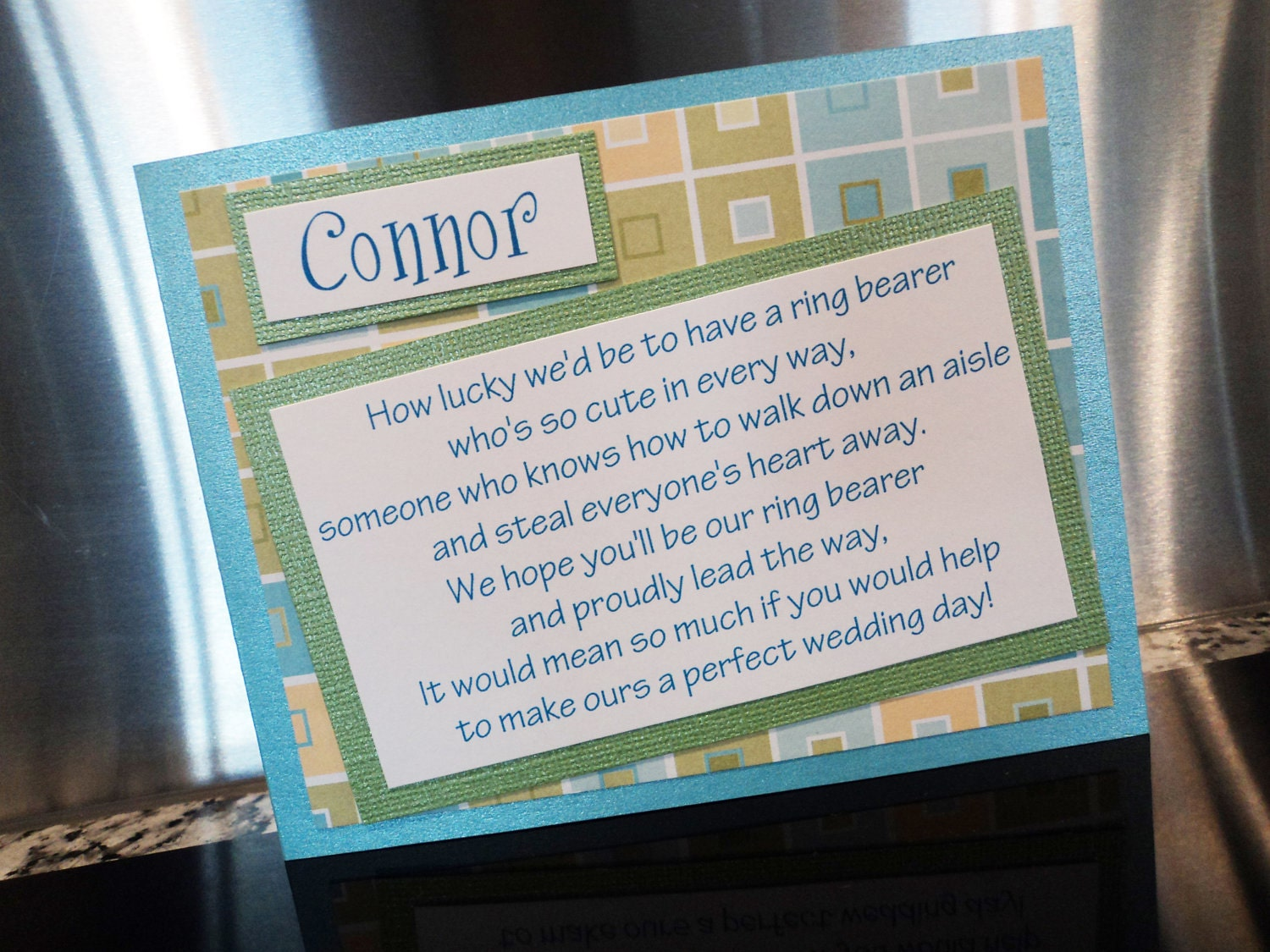Ring Bearer Card Will You Be My Ring Bearer Will You Be My
