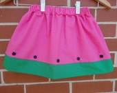 Girls Watermelon skirt, Made to order 12 month, 18 month, 2t, 3t, 4t, 5t,