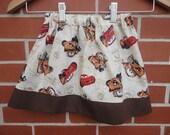 CARS (McQueen & Tow Mater), Girls Skirt, Made to order 12 months, 18 months, 2t, 3t, 4t, 5t,