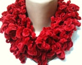 Handmade Curly Red Long Scarf