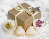 Bath Melt and Soap Gift Box Organic and Vegan Sandalwood May Chang British Etsy Team