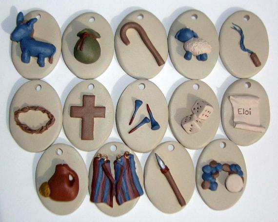 Easter Handpainted Resurrection Ornament Set
