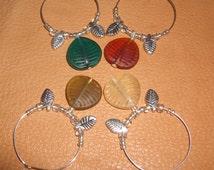 Autumn Leaf Wine Charms (Set of 4)