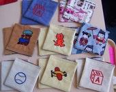 Childrens Memory Game - Kids Memory Game - Fabric Memory Game - Memory Game - Educational Memory Game - Pairs