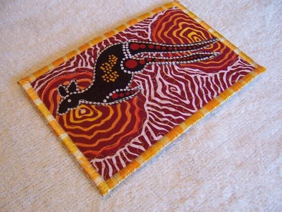 Quilted  Postcard - Aboriginal  Postcard - Australian  Postcard - Patchwork  Postcard - Appliqued Fabric Postcard