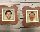 Unique Pair 50's Shadow Boxes / Wall Art