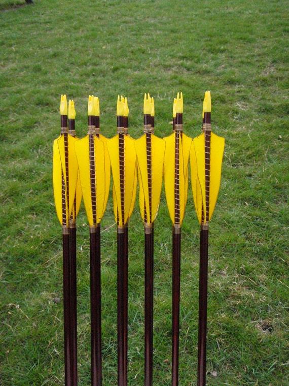 Helix Archery Arrows, 60-65lb, dozen arrows, traditional wood archery arrows