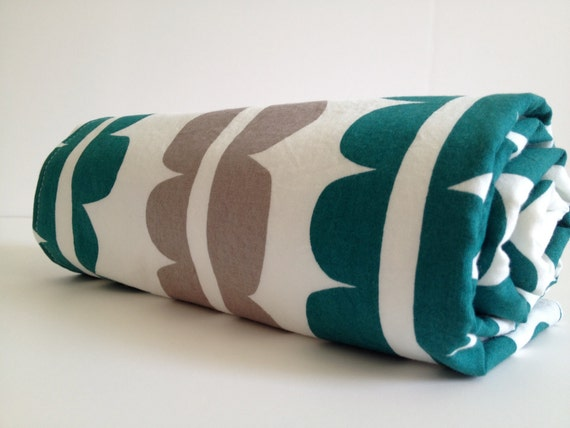Baby Blanket, Eco Friendly Organic, Teal and Charcoal