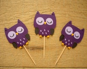 Custom Listing for Danli (Set of 24 Owl Cupcake Toppers and 2 Centerpieces)