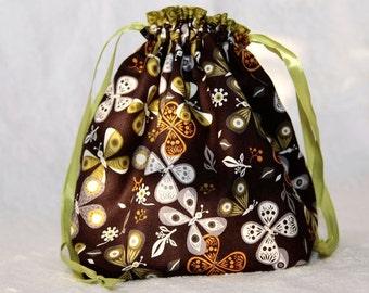 Knitting project bag- Butterflies