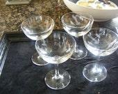 Vintage,Cut Crystal Champaign Glasses.
