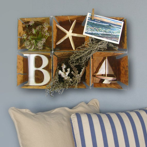 cottage beach nautical collage wall art home decor by j3decor. Black Bedroom Furniture Sets. Home Design Ideas