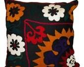 Hand Embroidered Suzani Pillow / Cushion