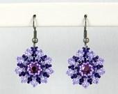 Beadwoven Flower Earrings