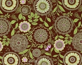 Amy Butler Fabric - Lotus Collection - Lacework - Brown