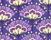 NEW- Kate Spain for Moda Fabric -Good Fortune Collection-Reflection -Metro Floral Lantern Flower - Purple