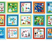 What a World Collection by Jill McDonald for P&B Textiles - World Cities - PANEL- Out of Print