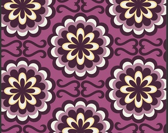 Art Gallery Fabric- Patricia Bravo - Chromatics Collection- Fancy Buttons- Purple/Magenta-Choose Your Cut 1/2 Yard or Full Cut