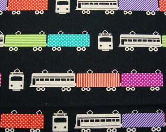 Echino Fabric- Echino Ni-Co Spring 2011- Trains - Black