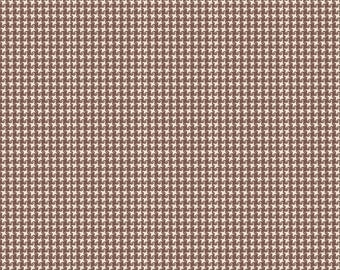 CLEARANCE - Homespun Chic- Gingham Print- Brown- by Melody Ross for Blend Fabrics - Novelty Fabric